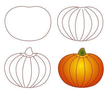 350x300 Drawing Pumpkin Faces