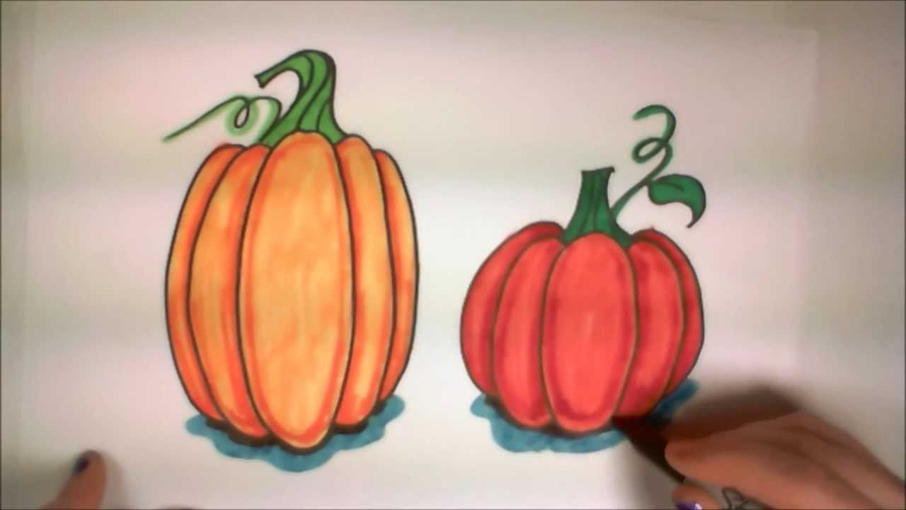 1280x720 Learn How To Draw Easy Pumpkins Icanhazdraw!