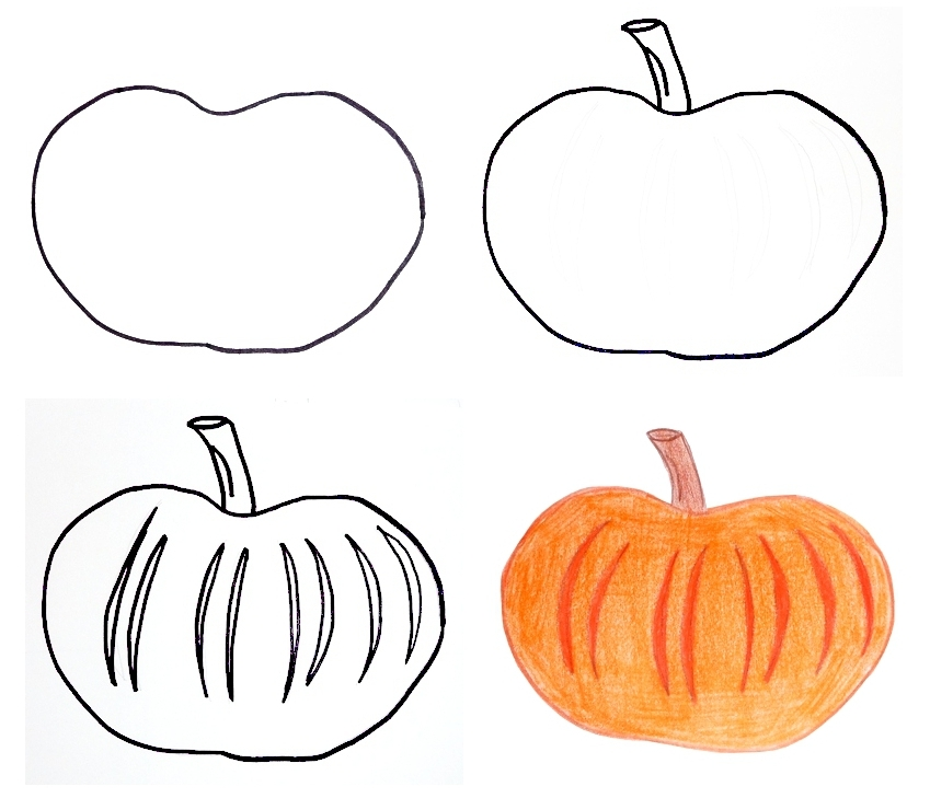 849x729 Pippi's Blog Halloween Drawings For Kids