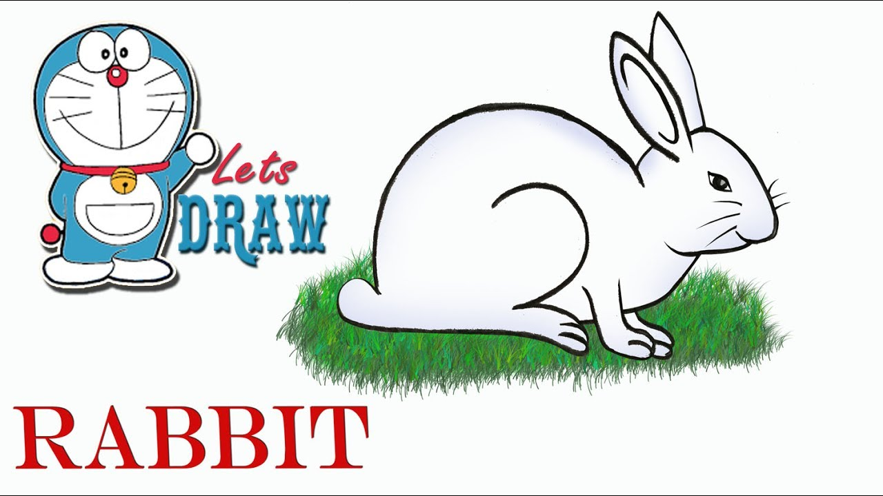 1280x720 How To Draw A Rabbit Step By Step (Very Easy)