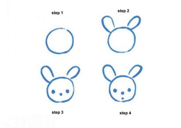 620x438 How To Draw Rabbit
