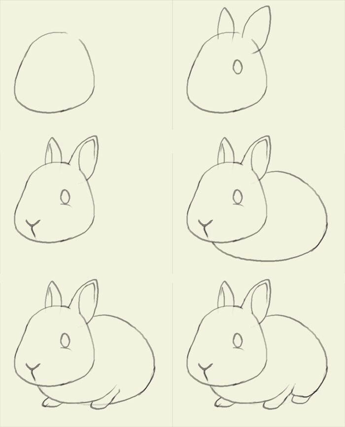 700x865 Rabbit Craft A Rabbit Rabbit, Draw And Doodles