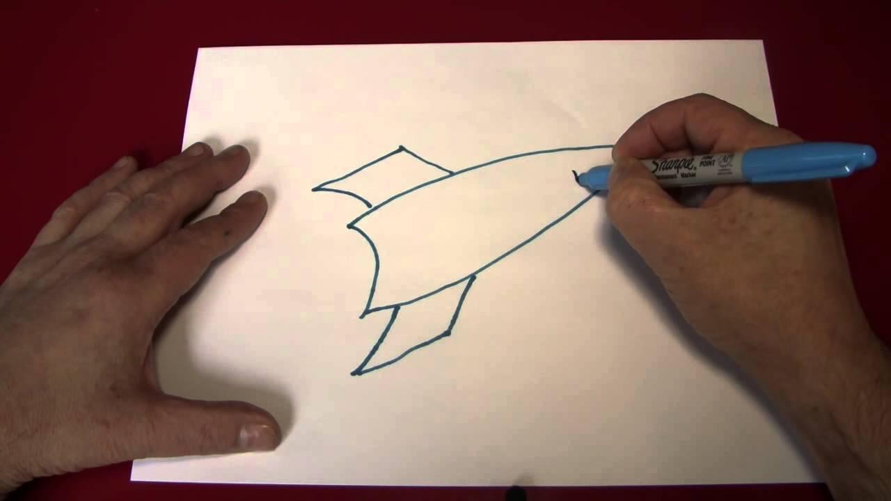 1280x720 Doodling (Drawing A Rocket Ship)