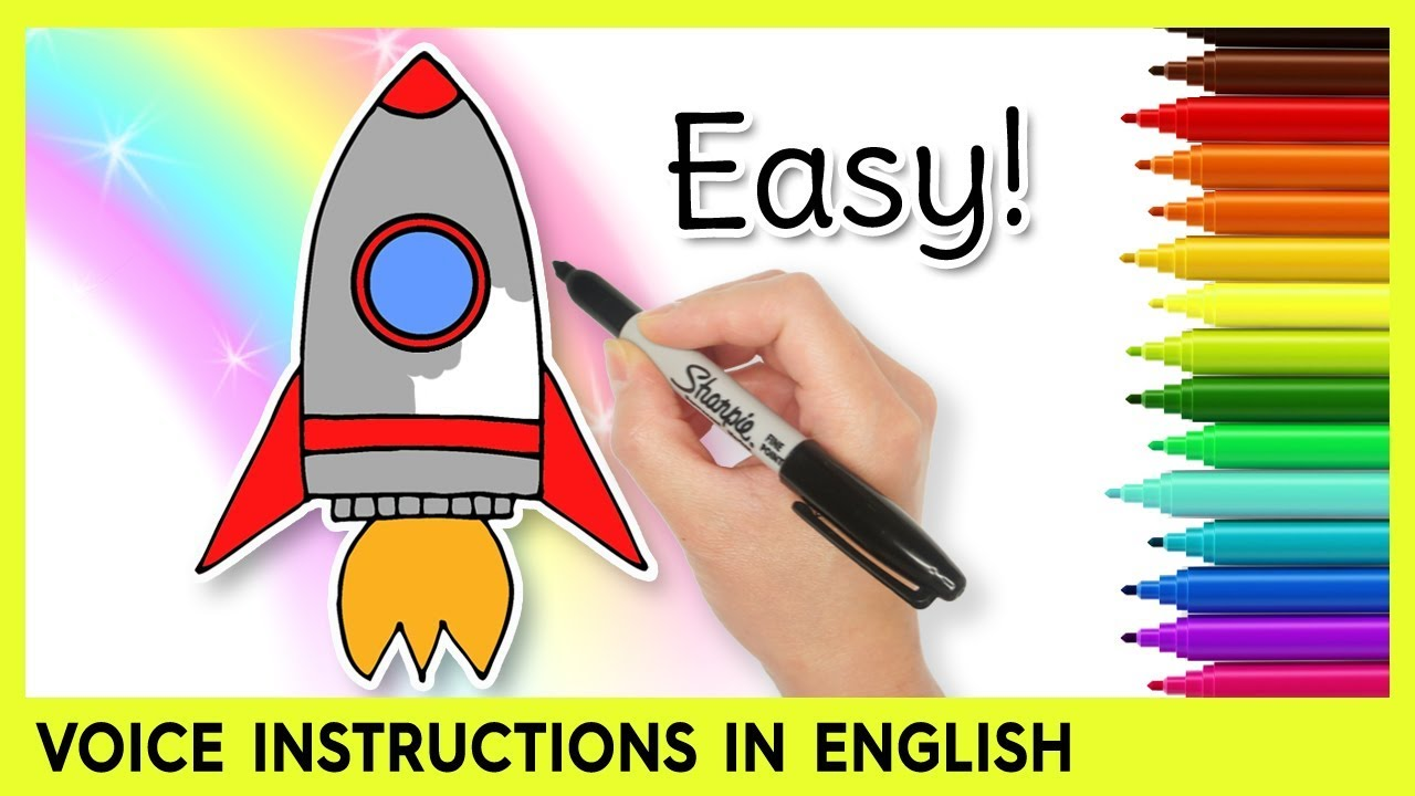 1280x720 How To Draw A Rocket Ship! Easy Learning Video For Kids