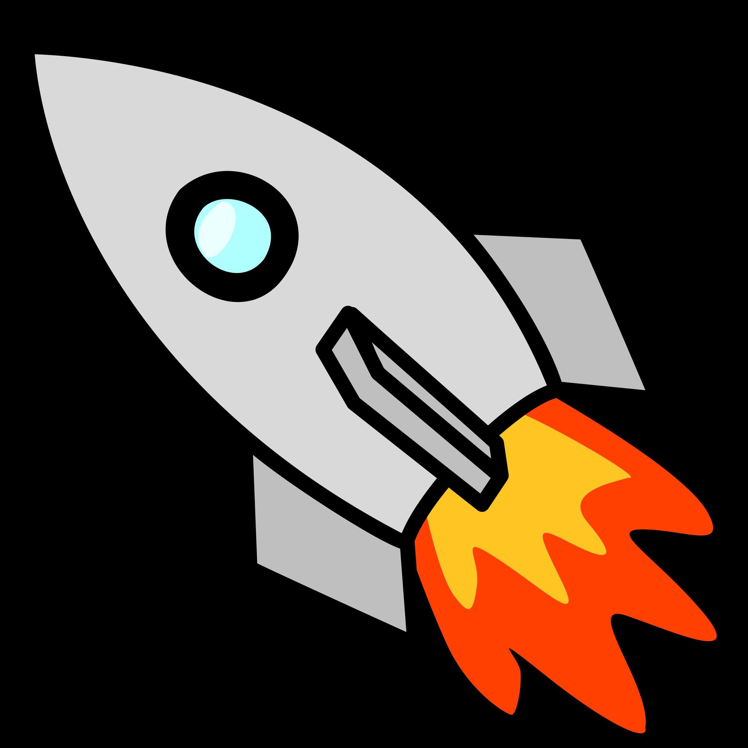 It is a graphic of Shocking Drawing A Rocket Ship