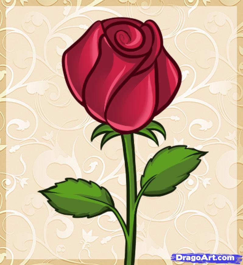 Simple Rose Drawing At Getdrawings Com Free For Personal Use