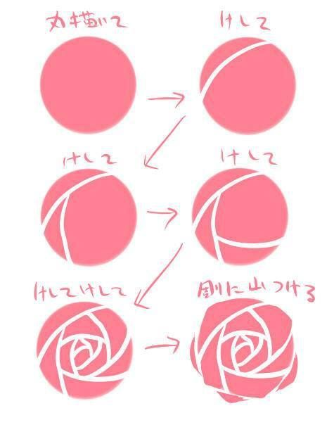 475x624 How To Draw A Simple Rose!