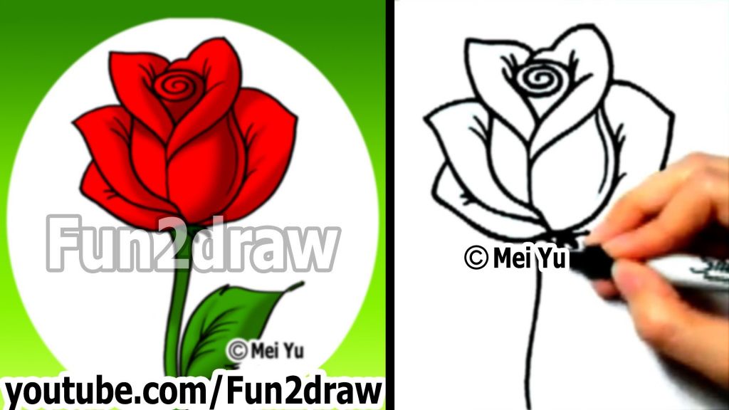 1024x576 Ideas Of Draw A Realistic Rose For Beginners 1000 Ideas About