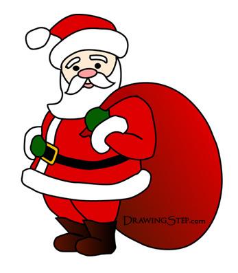 347x397 Cartoon Santa Claus Drawing