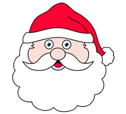 250x226 How To Draw A Santa Head Cartoon Lesson