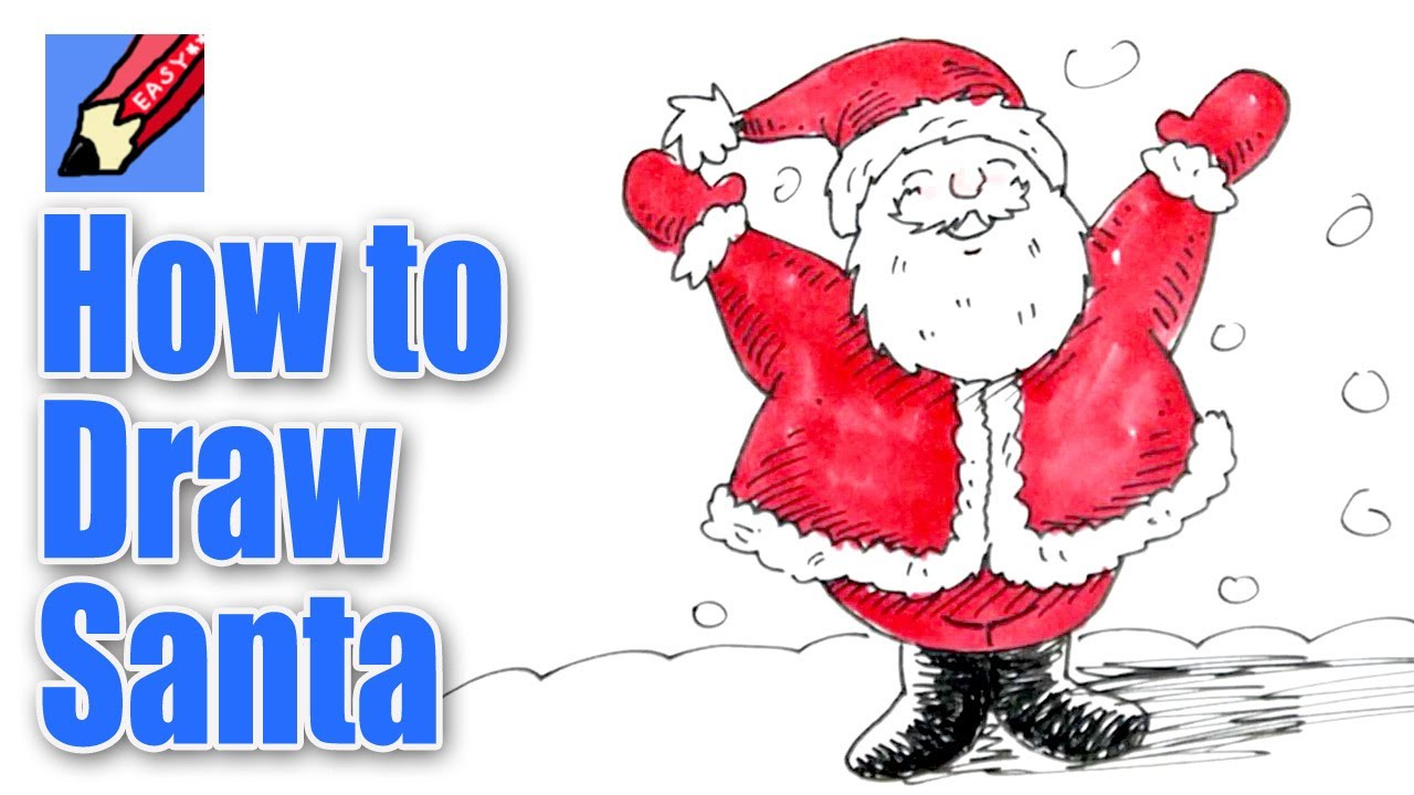 1280x720 How To Draw Santa Real Easy