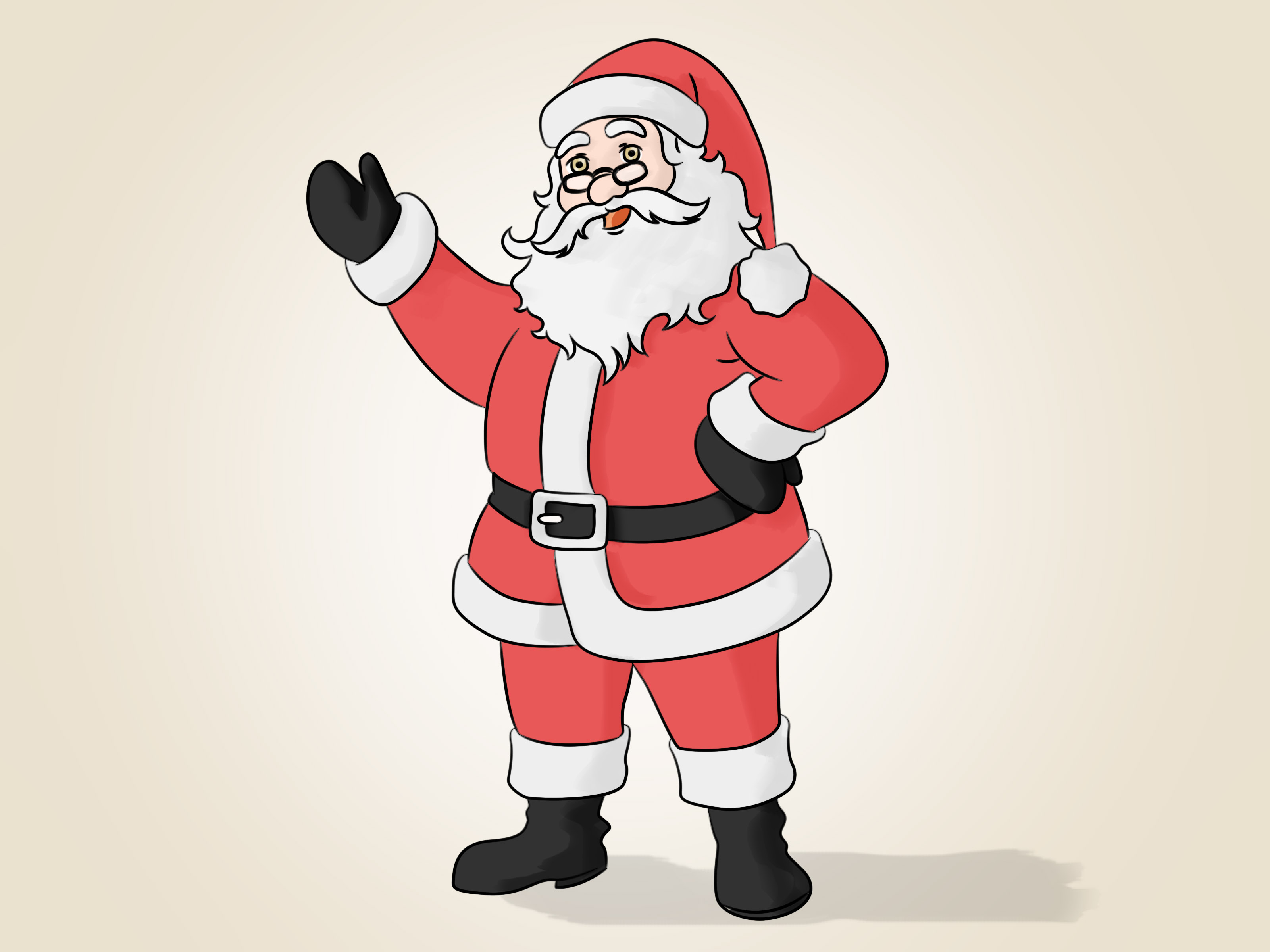 3200x2400 Simple Drawing Of Santa Claus How To Draw Santa Claus 14 Steps