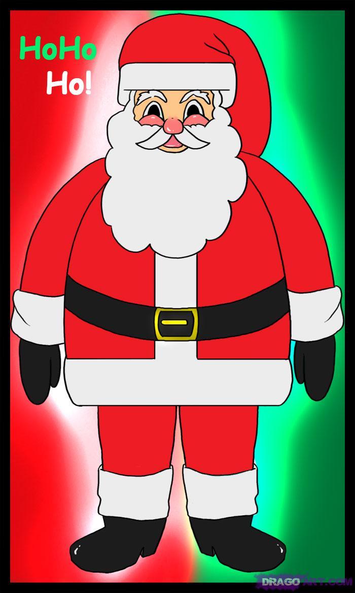 700x1168 Simple Drawing Of Santa How To Draw Santa Clause, Santa, Santa