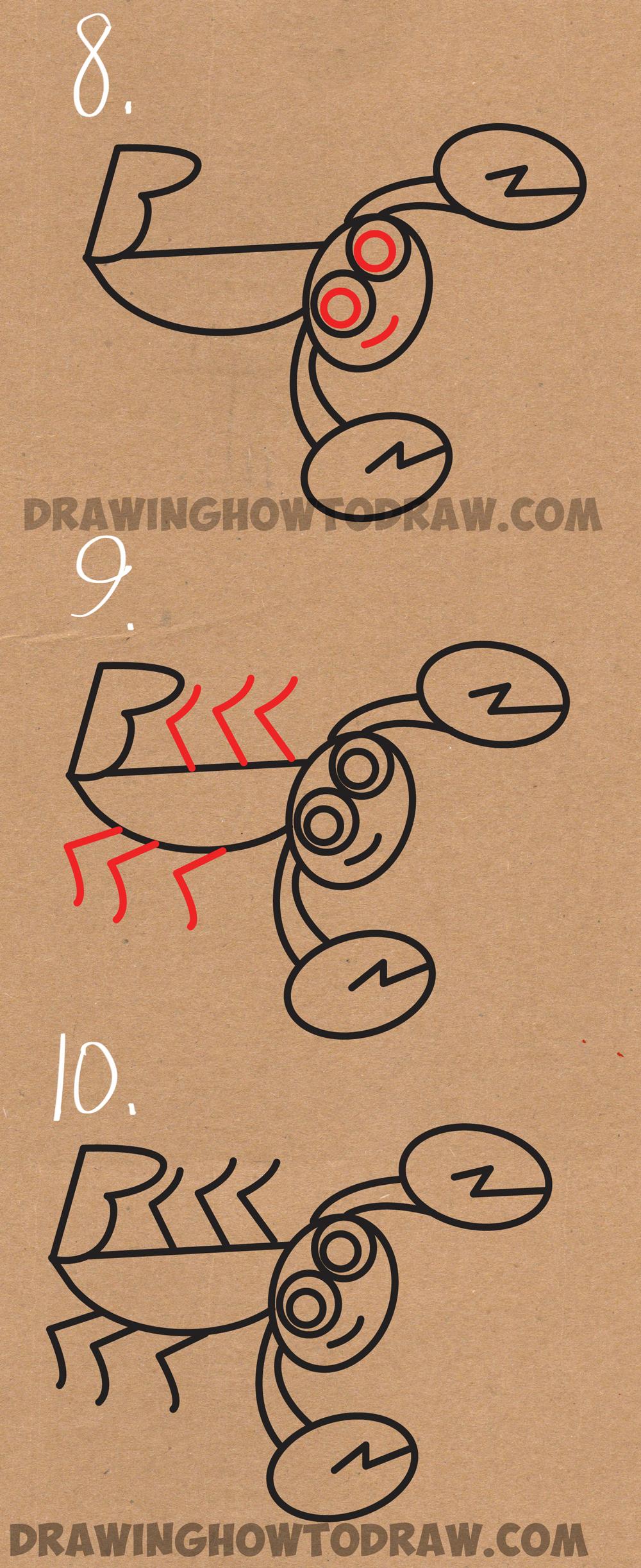 1000x2443 How To Draw Cartoon Scorpions