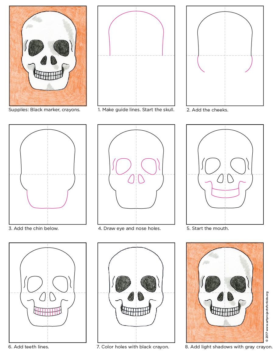 900x1169 Basic Skull Drawing