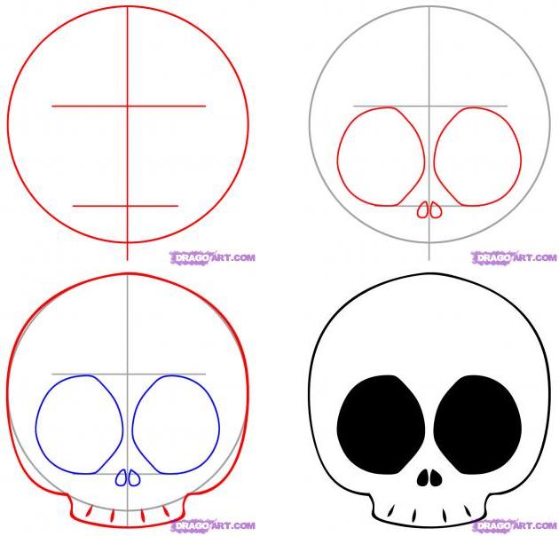 630x604 How To Draw A Chibi Skull November D Chibi, Simple