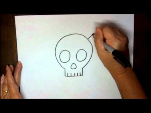 480x360 How To Draw A Skull And Crossbones Step By Step Simple Cartoon