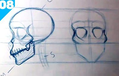 400x255 How To Draw A Skull Step By Step Guide For Beginners