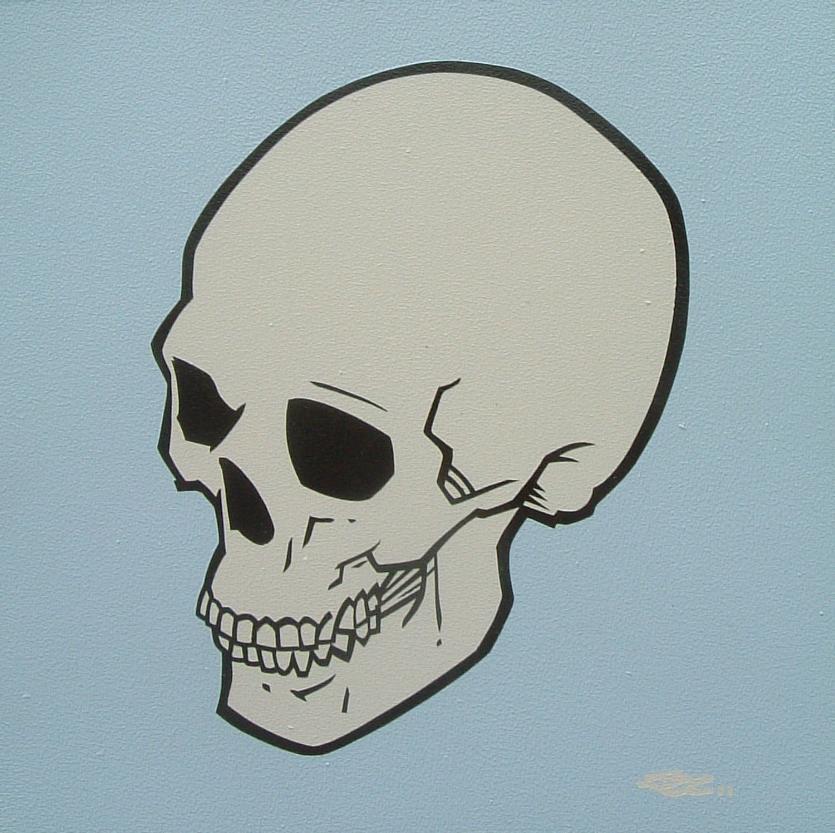 835x833 Simple Skull Paintings By Mondo John