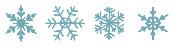 600x166 8 Free Hand Drawn Vector Snowflakes