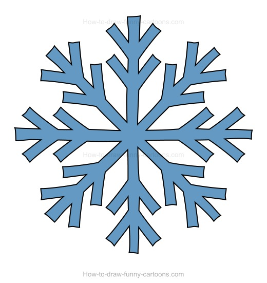 520x551 How To Draw A Snowflake