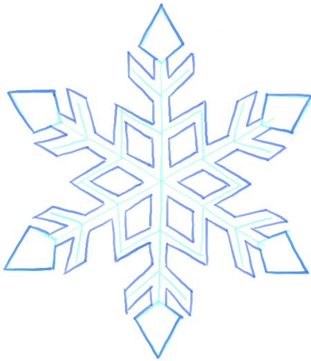 450x521 How To Draw A Snowflake Step By Step Drawing Tutorial