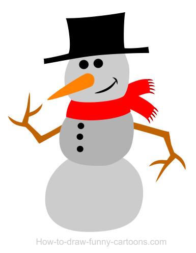 385x496 Drawing A Snowman Cartoon