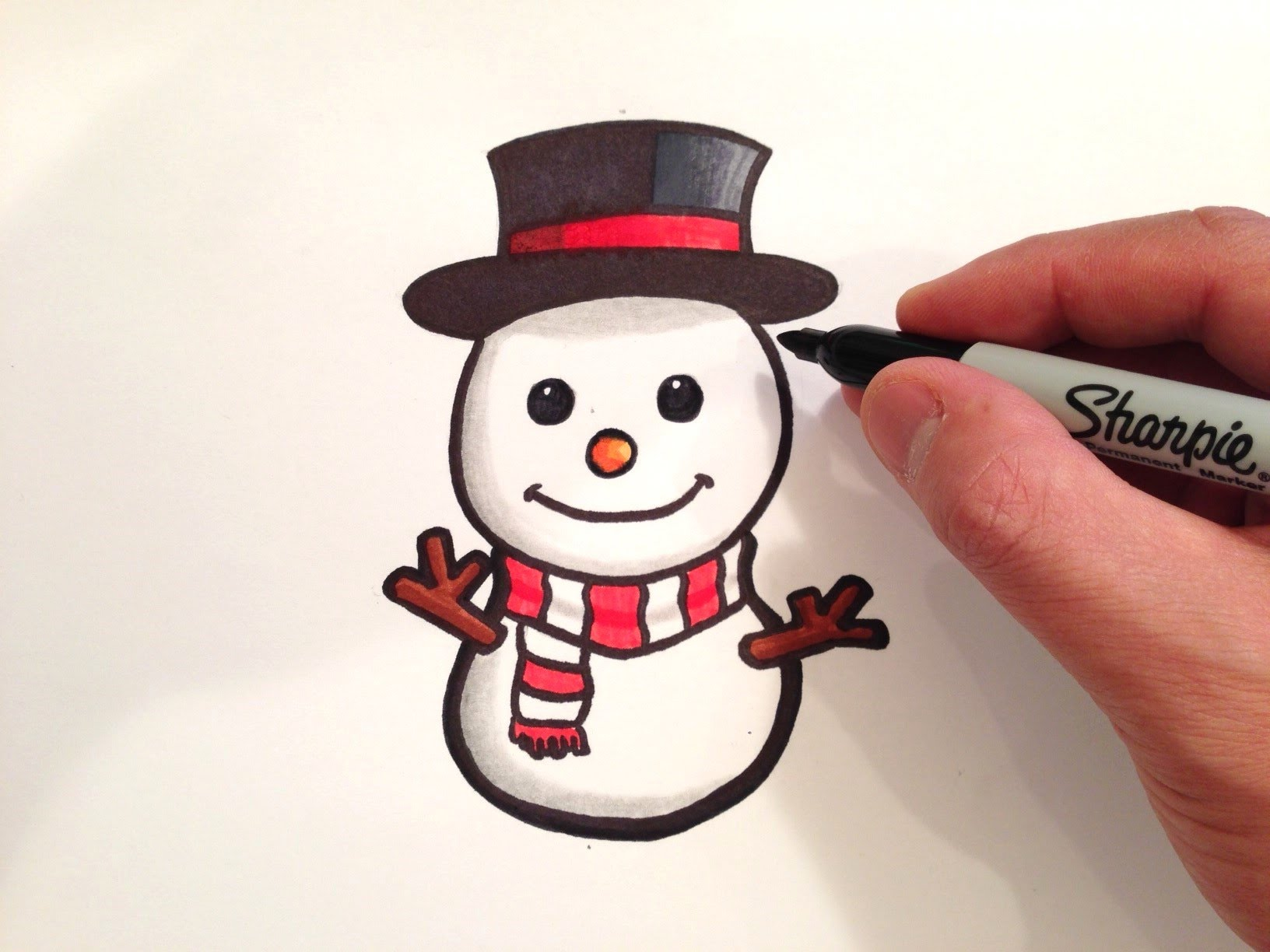 1632x1224 How To Draw A Cute Snowman