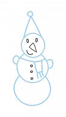 215x382 How To Draw A Snowman, Kids, Winter, Easy Step By Step Drawing