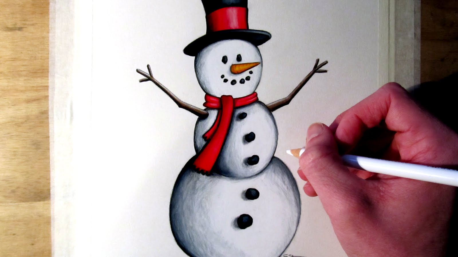 1600x900 How To Draw A Snowman