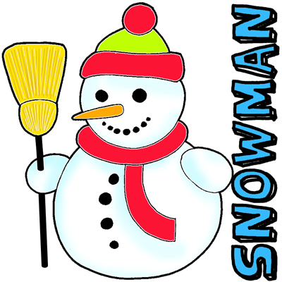 400x400 How To Draw A Snowman With Easy Step By Step Drawing Tutorial