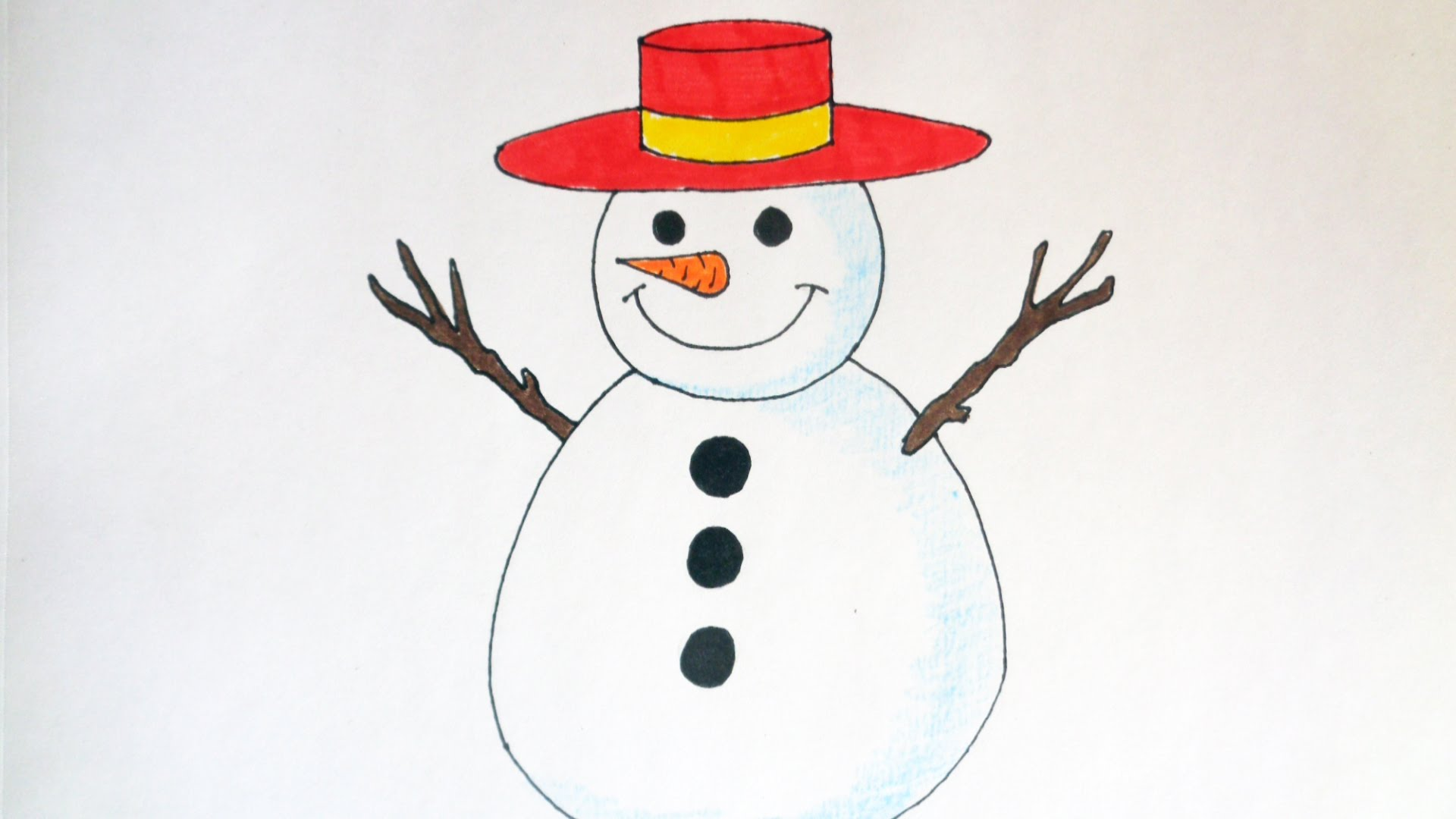 1920x1080 How To Draw A Snowman, Christmas Stuff, Pictures