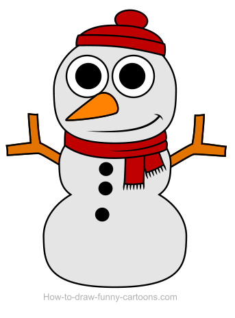 343x464 Snowman Drawing (Sketching + Vector)