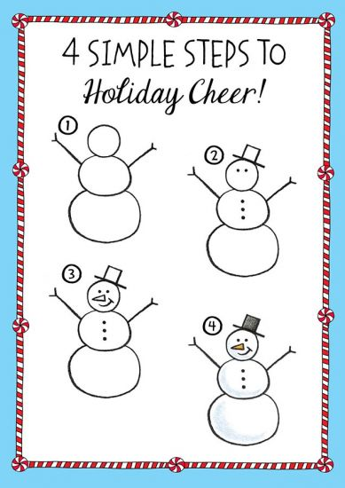 389x550 How To Draw A Snowman Walter Foster Books Snowman