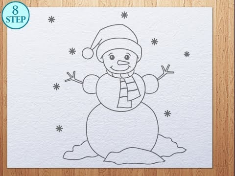 480x360 How To Draw Snowman