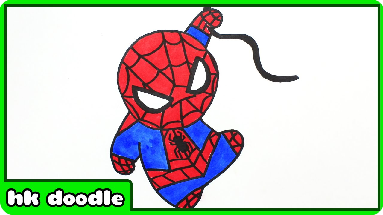 1280x720 How To Draw Spiderman Easy Spider Man Drawing For Kids Step By