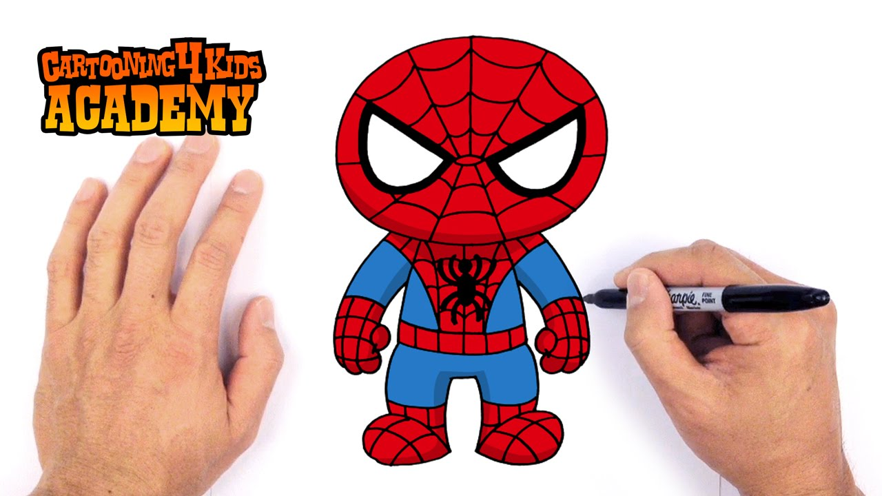 1280x720 How To Draw Spiderman Art For Beginners