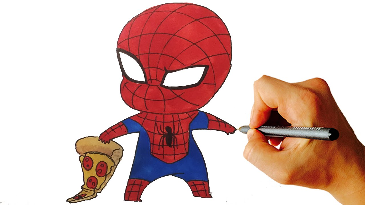 1280x720 How To Draw Spiderman Chibi From Marvel Characters Easy Step By
