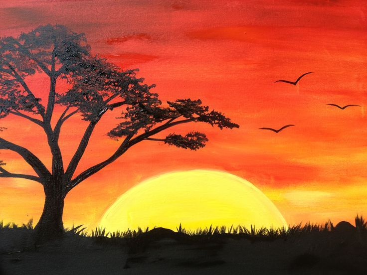Simple Sunset Drawing at GetDrawings   Free download