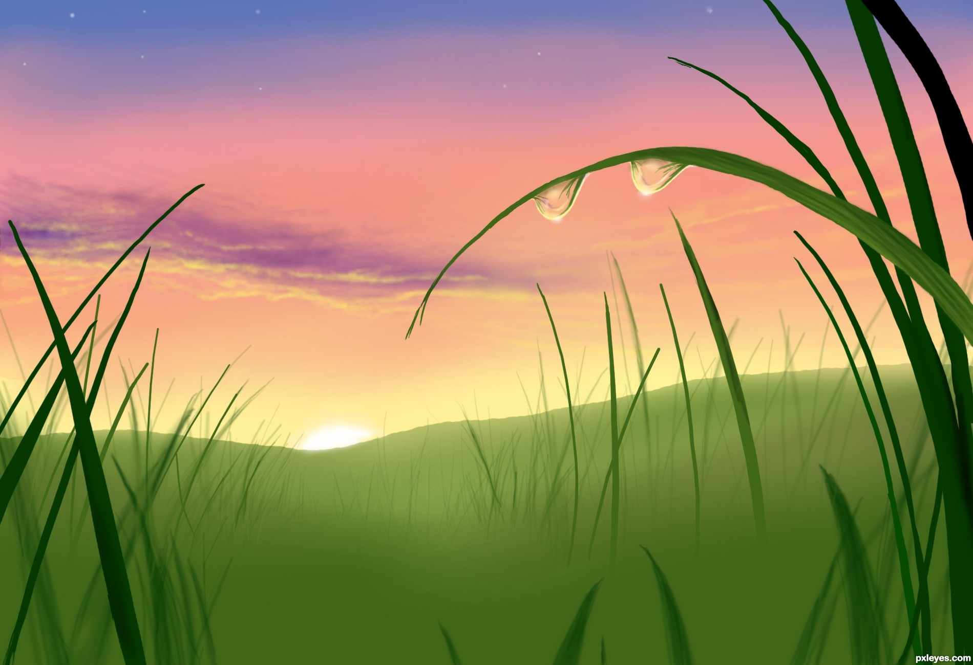 Line Drawing Sunrise : Simple sunset drawing at getdrawings free for