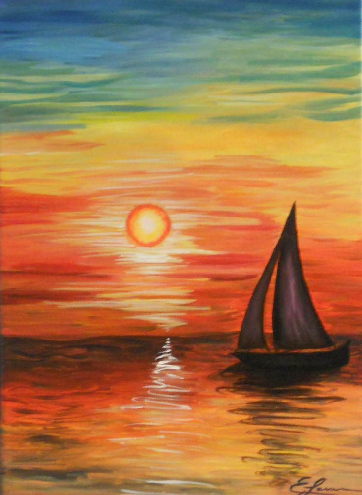 736x1006 Sunset Oil Pastel Pinterest Paintings And Acrylics