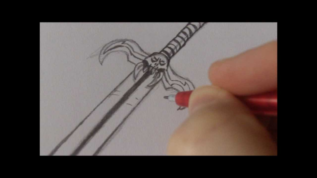 1280x720 How To Draw A Fantasy Sword Weapon