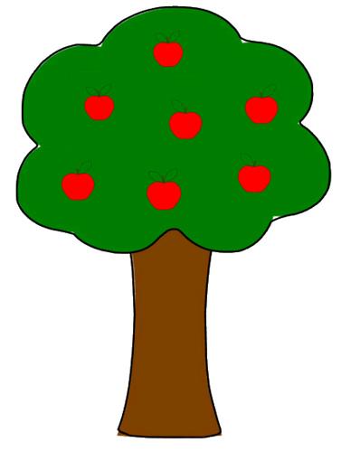 377x500 Simple Apple Tree Drawing Clipart Panda