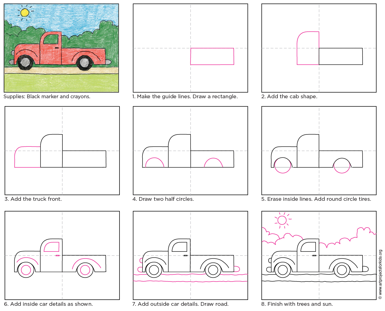 Simple Truck Drawing at GetDrawings.com   Free for personal use ...