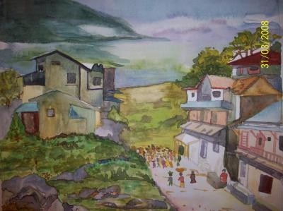 Simple Village Drawing At Getdrawings Com Free For Personal Use