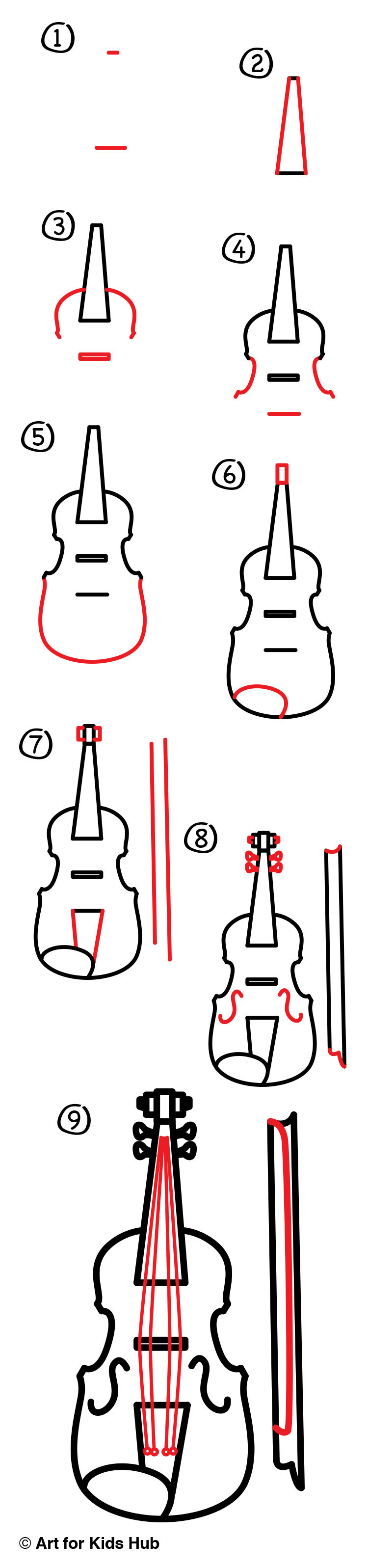 750x3194 How To Draw A Violin