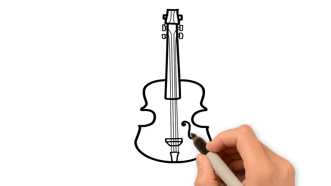 1280x720 How To Draw Cello