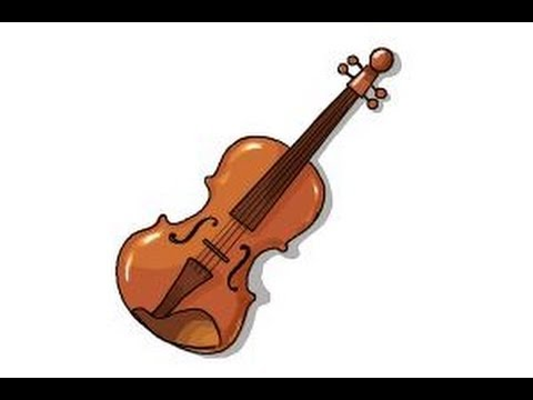 480x360 How To Draw A Violin Step By Step
