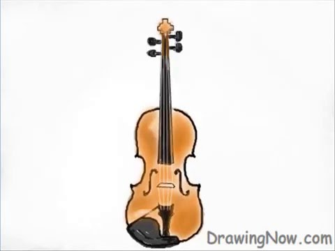 480x360 Learn How To Draw A Violin