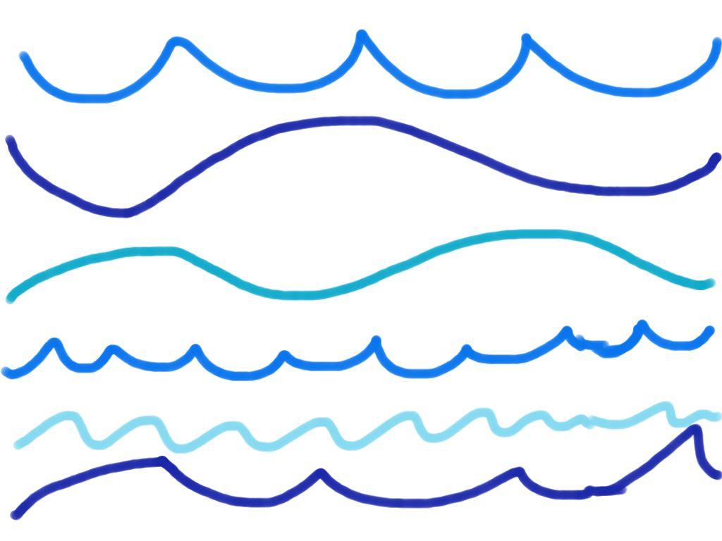 1024x768 Water Wave Drawing Best Photos Of Ocean Wave Line Ocean Water Wave